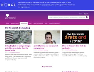 bccs.uib.no screenshot