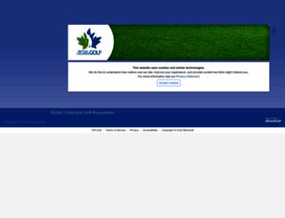 bcga.bluegolf.com screenshot