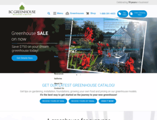 bcgreenhouses.com screenshot