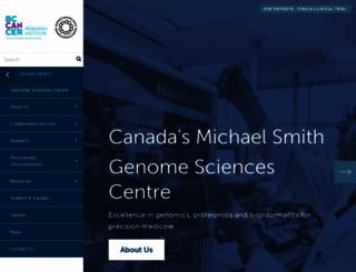 bcgsc.ca screenshot