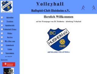 bch-volleyball.de screenshot