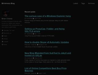 bchavez.bitarmory.com screenshot