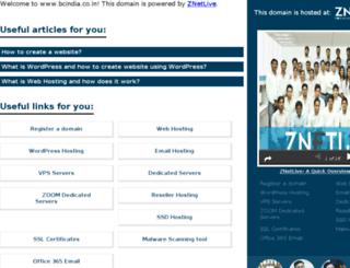 bcindia.co.in screenshot