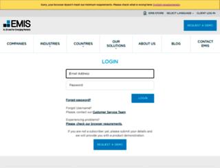 bck.emis.com screenshot