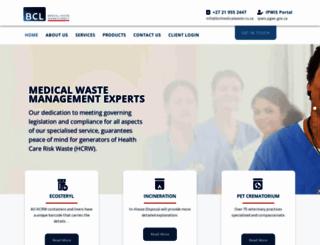 bclmedicalwaste.co.za screenshot