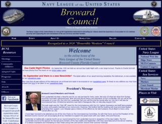 bcnavyleague.org screenshot