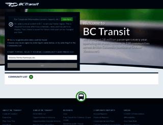 bctransit.com screenshot