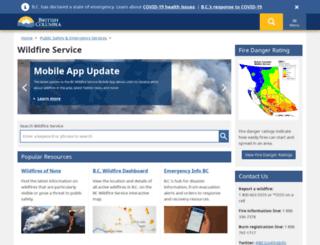 bcwildfire.com screenshot