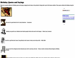 bdayquotes.com screenshot