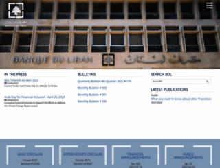 bdl.gov.lb screenshot