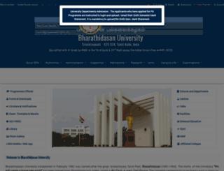 bdu.ac.in screenshot