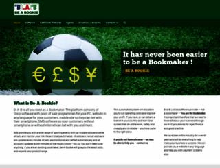 be-a-bookie.com screenshot