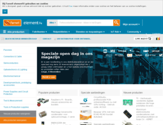be.farnell.com screenshot