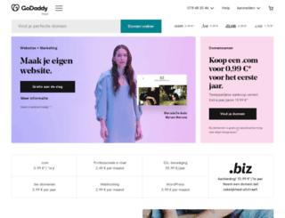 be.godaddy.com screenshot