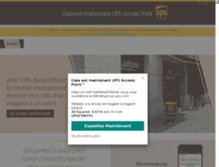 be.kiala.com screenshot