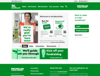 be.macmillan.org.uk screenshot