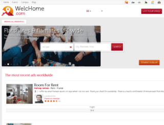 be.welchome.com screenshot