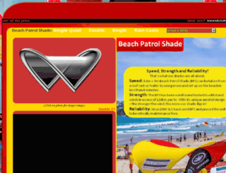 beach-patrol-shade.com.au screenshot