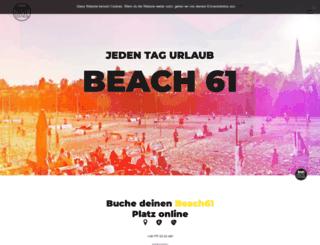 beach61.de screenshot