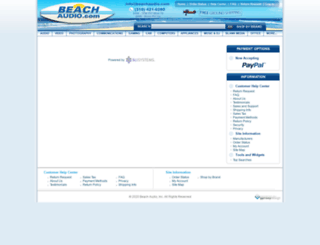 beachaudio.resultsdemo.com screenshot