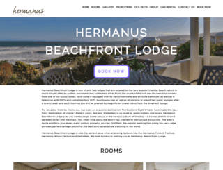 beachfrontlodgehermanus.co.za screenshot