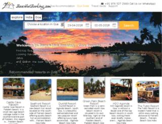 beachhutbooking.com screenshot