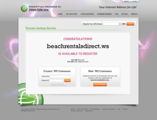 beachrentalsdirect.ws screenshot
