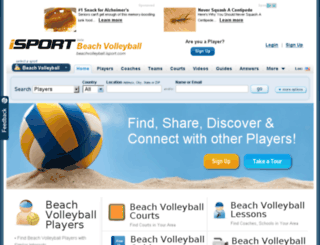 beachvolleyball.isport.com screenshot