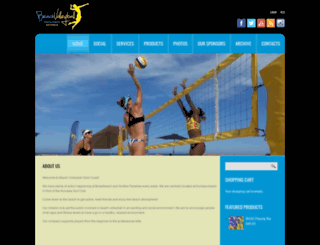 beachvolleyballgoldcoast.com screenshot