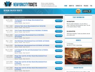 beacon.theatre-ny.com screenshot