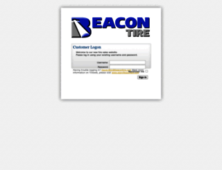 beacon.tireweb.com screenshot