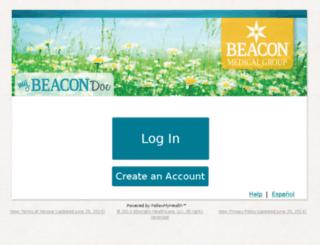 beaconhealthsystem.followmyhealth.com screenshot