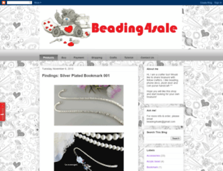 beading4sale.blogspot.com screenshot