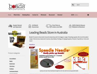 beadsncrystals.com.au screenshot