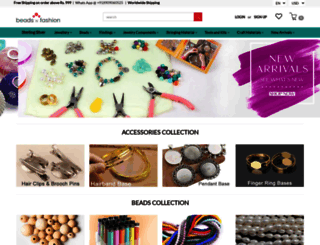 beadsnfashion.com screenshot