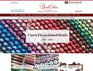 beadsonline.com.au screenshot