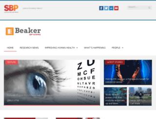 beaker.sanfordburnham.org screenshot