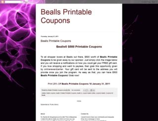 beallsprintablecoupons.blogspot.com screenshot