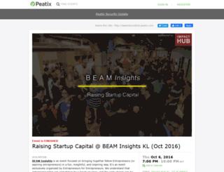 beamkloct2016.peatix.com screenshot