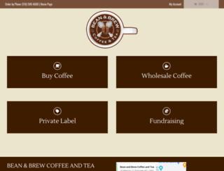 beanandbrewcoffeeandtea.com screenshot