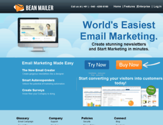beanmailer.com screenshot