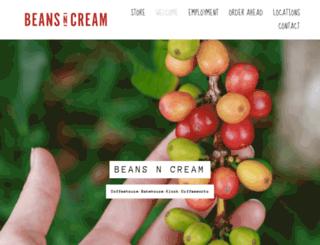 beansncreamcoffeehouse.com screenshot