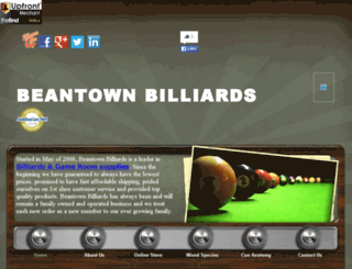 beantownbilliards.com screenshot