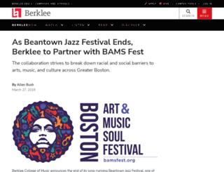beantownjazz.org screenshot