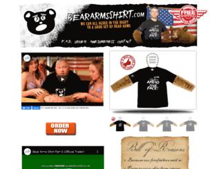 beararmsshirt.com screenshot