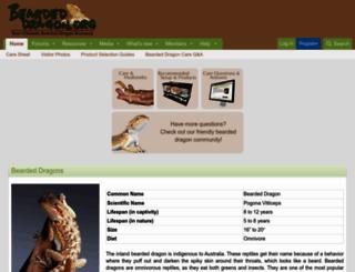 beardeddragon.org screenshot