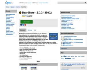 bearshare.updatestar.com screenshot
