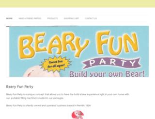bearyfunparty.com.au screenshot