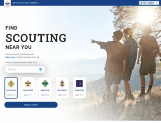 beascout.scouting.org screenshot