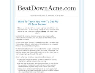 beatdownacne.com screenshot